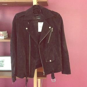 Theory suede moto jacket